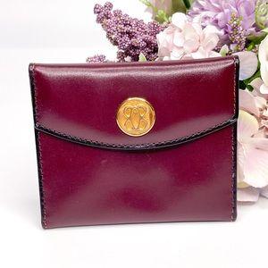 Vintage Bosca Micro Wallet Card Case Leather